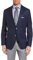 BOSS Men's Janson Trim Fit Plaid Wool & Silk Sport Coat