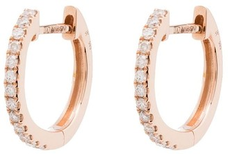 Jacquie Aiche 14kt rose gold diamond hoop earrings