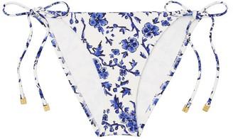 Tory Burch Printed String Bikini Bottom