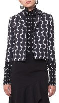 Akris Punto Women's Lace Dot Print Crop Jacket
