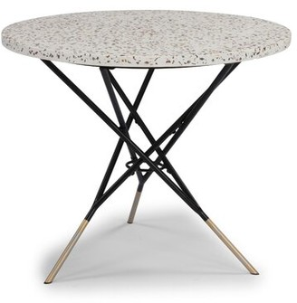 Ivy Bronx Oswesty Bistro Table Color: White