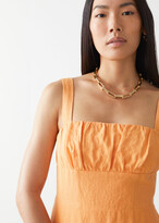 Thumbnail for your product : And other stories Strappy Linen Midi Dress