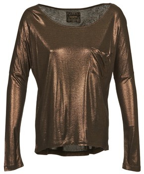 Chipie NINON women's Long Sleeve T-shirt in Brown
