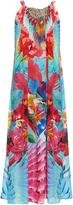 Camilla The Free-print drawstring silk-crepe dress