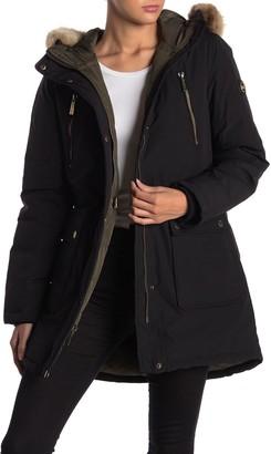 MICHAEL Michael Kors Missy Down Filled Faux Fur Trim Hood Anorak