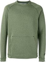 Nike tech fleece crew neck sweatshirt - men - Cotton/Polyester - S
