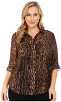 MICHAEL Michael Kors Size Lurex Embellished Button Down Top
