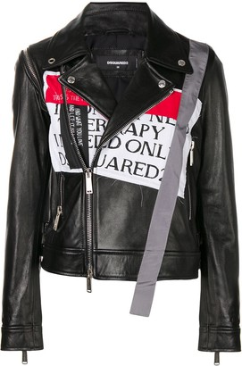 DSQUARED2 Front Patch Biker Jacket