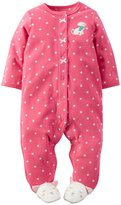 Carter's Dotted Footie (Baby)-Dog-6 Months