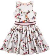 Molo Carli Flower Stars Poplin Dress, Pink, Size 2T-12