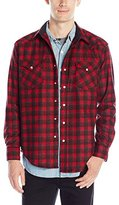 Pendleton Men's Fitted Canyon Shirt, Grey/Black Plaid, XXL
