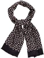 Marc by Marc Jacobs Silk Abstract Printed Scarf