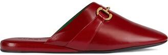 Gucci Horsebit squared toe slippers