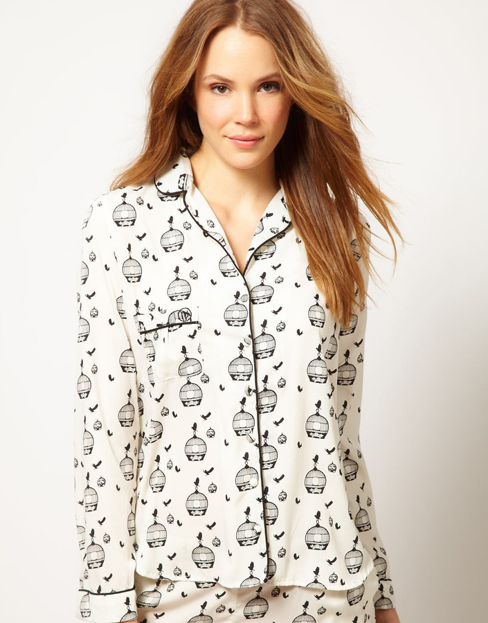 River Island Bird Cage PJ Top
