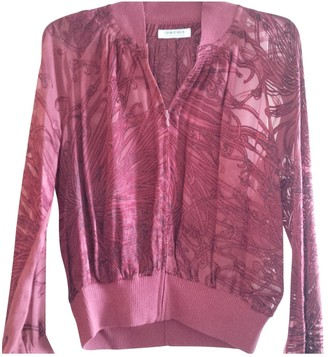 Georges Rech Burgundy Silk Top for Women