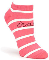 Kate Spade Sailing Stripe C'est la Vie No-Show Ankle Socks