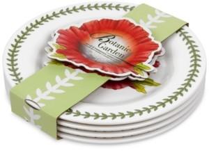 Portmeirion 4-Pc. Botanic Garden Melamine Salad/Dessert Plates