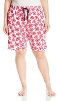 Jockey Women's Plus Size Printed Bermuda Short