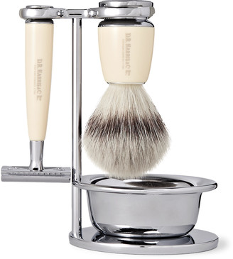 D.R. Harris Safety Chrome And Resin Four-Piece Shaving Set
