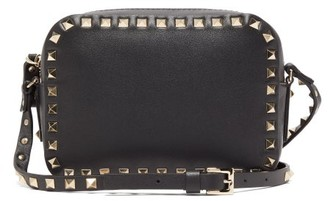 Valentino Rockstud Mini Leather Cross-body Bag - Womens - Black