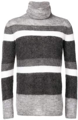 Emporio Armani striped turtleneck jumper