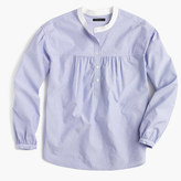 J.Crew Gathered popover in end-on-end cotton