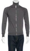 Christian Dior Wool Mock Neck Zip Sweater