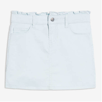 Joe Fresh Kid Girls' Ruffle Waist Skirt, Pale Blue (Size 6)