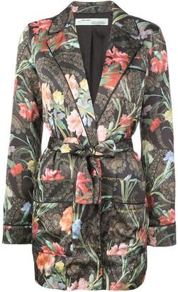 Off-White floral belted jacket