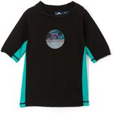 Kanu Surf Black & Aqua Condor Rashguard - Boys
