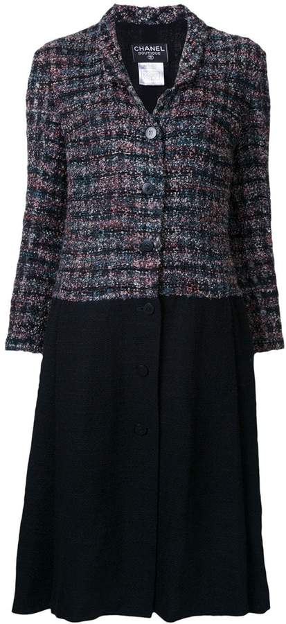 Chanel Pre-Owned contrast panel coat