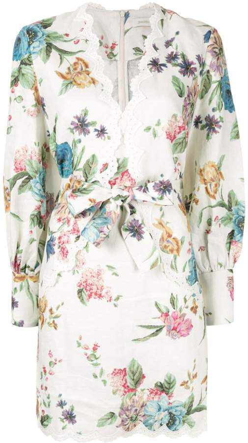 Zimmermann scallop printed dress