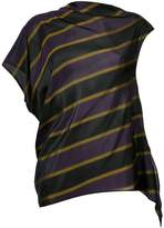 08sircus striped asymmetric blouse