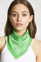Forever 21 FOREVER 21+ Frayed Paisley Square Scarf