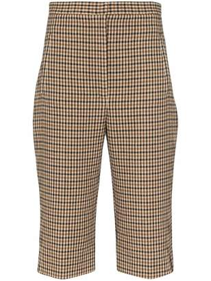 KHAITE Ruby Bermuda Checkered Shorts