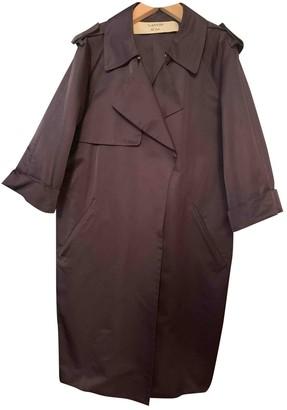 Lanvin Blue Cotton Trench Coat for Women