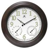 Infinity Instruments Radiant Reader Glow-in-the-Dark Dial Wall Clock Brown