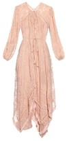 Zimmermann Henna embroidered silk-chiffon dress
