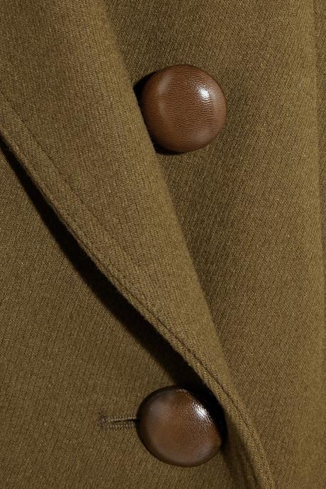 Isabel Marant Ziggy wool-blend brushed-twill coat
