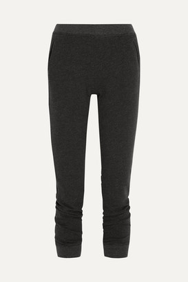 ATM Anthony Thomas Melillo French Cotton-blend Terry Slim-leg Pants - Black