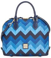 Dooney & Bourke Denim Chevron Zip Zip Satchel, A Macy's Exclusive Style
