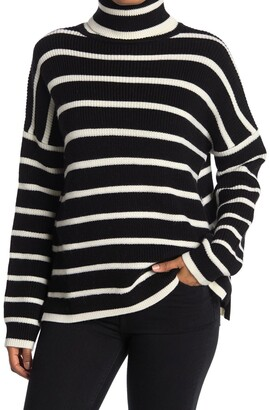 La Ligne Stripe Merino Wool Turtleneck Sweater
