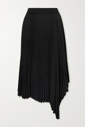 Joseph Swinton Asymmetric Pleated Crepe Midi Skirt