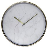 """Threshold Wall Clock Marble with Brass 10"""""""