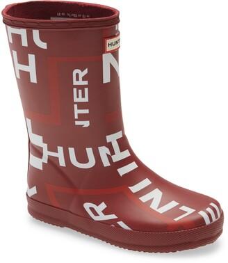 Hunter First Classic Exploded Logo Rain Boot