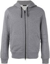Belstaff zip-front hooded sweatshirt - men - Cotton - M