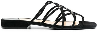 Sergio Rossi Strappy Flat Sandals