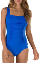 Speedo One Piece Fitness Swimsuit with Panel Ruched Front