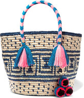 Yosuzi Manya Embellished Woven Toquilla Straw Tote - one size
