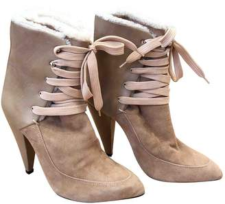 IRO Camel Suede Boots